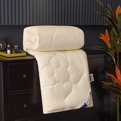 新款磨毛压花蚕丝被春秋被加厚保暖冬被夏凉被空调被子棉被芯 150x200cm3斤 黄色