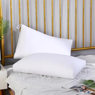 2019优派家纺新款重磅斜纹磨毛超细羽丝绒水洗枕头枕芯 白色 48*74CM/ 只