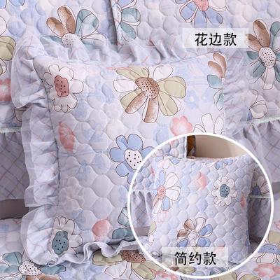 2019新款爆款韩版蕾丝-抱枕 花边抱枕45*45 宁静