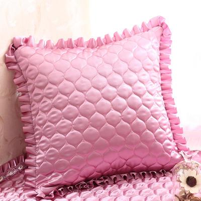 2019新款纯色绸缎抱枕-粉色之恋 55*55抱枕套内径通用 紫色迷情