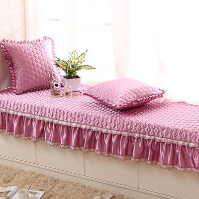 2019新款纯色绸缎飘窗垫-粉色之恋 70*130茶几巾 紫色迷情