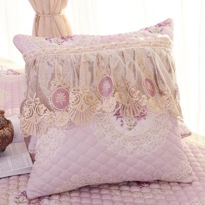 2019新款欧式浪漫舒适抱枕-花好月圆 45*45抱枕套内径通用 花好月圆-紫色
