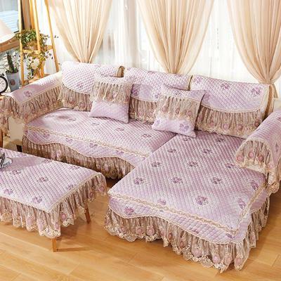 2019新款欧式浪漫沙发垫-花好月圆 70*70+18cm边 花好月圆-紫色