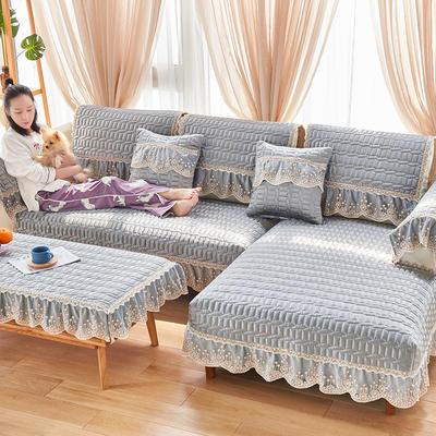 2019新款沙发垫-简欧 50*70有花边 简欧-都市灰