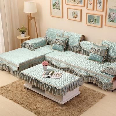 2019新款沙发垫-玛丽王妃 60*60+18cm边 玛丽王妃-湖光绿
