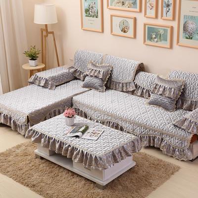 2019新款沙发垫-玛丽王妃 60*60+18cm边 玛丽王妃-银灰色