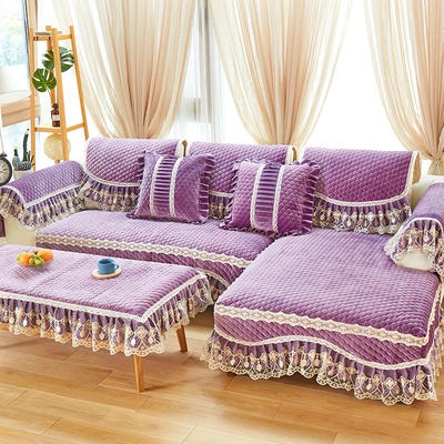 2019新款毛绒沙发垫-娜莉丝 70*70+18cm边 娜莉丝-紫