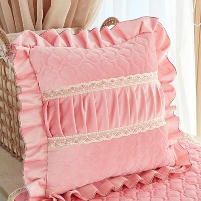 209新款毛绒抱枕-娜莉丝 抱枕套45*45内径通用 樱花粉