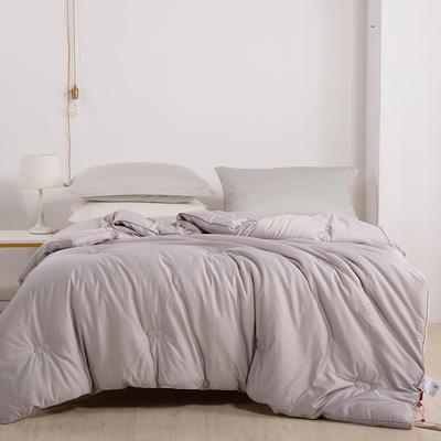 2020新款 长绒棉冬被功能被量子升温 发热纤维 220x240cm 灰色
