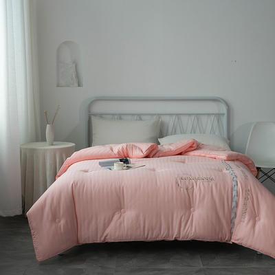 2020 新款全棉提花绣花立体冬被 220x240cm 粉色