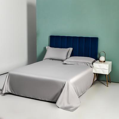 2021新品-60s兰精天丝单品床单镂空枕套 245*250cm单床单 气质灰