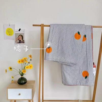 2019新款-艾草驱蚊全棉棉花夏被 200X230cm 橘子