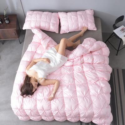 2019新款N2-80支柔赛丝羽绒被被子被芯 150*200cm50鹅绒5.08斤 粉色