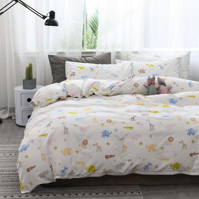 2019新款北欧全棉印花趣味童年系列1单品被套 150x210cm 动物乐园