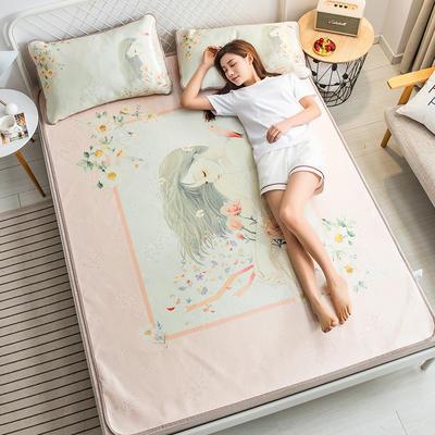 2019新款 大版花冰丝席 180*200cm 婉约少女