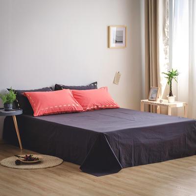 日系慢生活系列纯棉水洗棉单床单 180cmx230cm 红黑