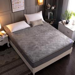 2019新款法兰绒加厚床垫 90*200cm 灰色