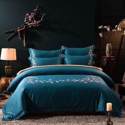 2019新款高端轻奢60s长绒棉系列四件套-花开流年 1.8m(6英尺)床 花开流年