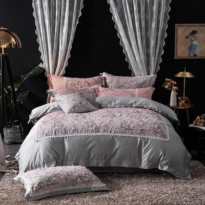 2019新款高端轻奢60s长绒棉系列四件套-锦艺 1.8m(6英尺)床 锦艺