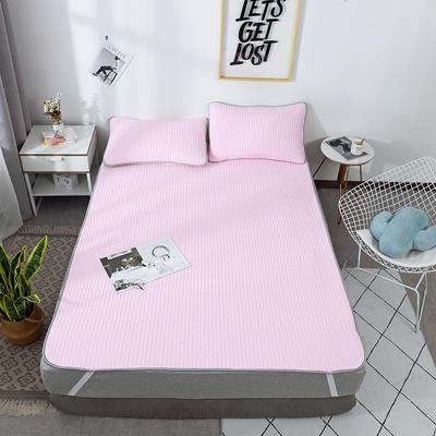 2019新款棉麻乳胶凉席套件 1.5m(5英尺)床 粉色
