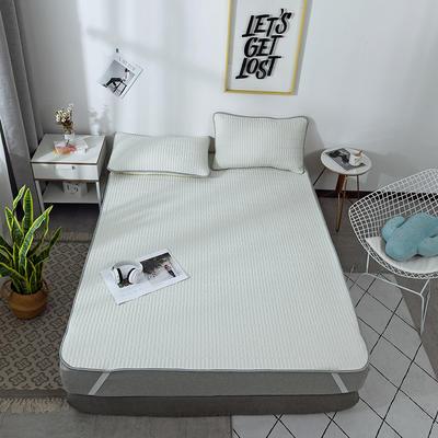 2019新款棉麻乳胶凉席套件 1.5m(5英尺)床 灰色