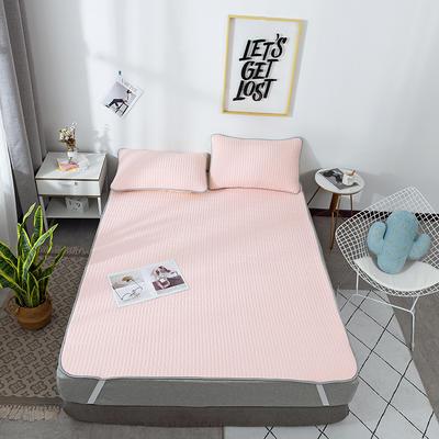 2019新款棉麻乳胶凉席套件 1.5m(5英尺)床 玉色