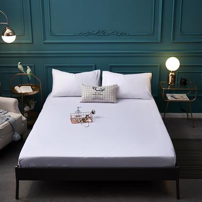 全棉13372纯色单床笠床单 席梦思保护套 0.9*2.0m/高30cm 白色