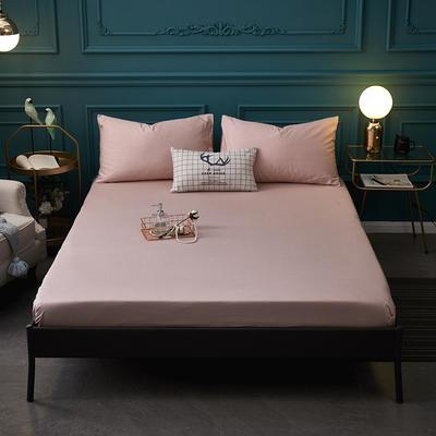 全棉13372纯色单床笠床单 席梦思保护套 0.9*2.0m/高30cm 豆沙色