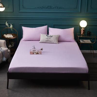 全棉13372纯色单床笠床单 席梦思保护套 0.9*2.0m/高30cm 粉色