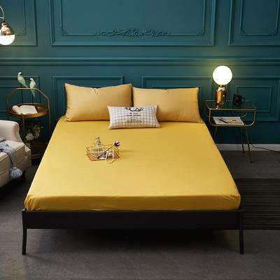 全棉13372纯色单床笠床单 席梦思保护套 0.9*2.0m/高30cm 黄色