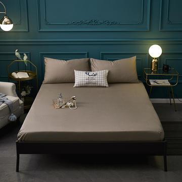 全棉13372纯色单床笠床单 席梦思保护套