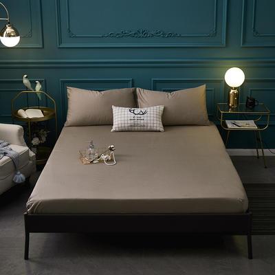 全棉13372纯色单床笠床单 席梦思保护套 0.9*2.0m/高30cm 浅灰色