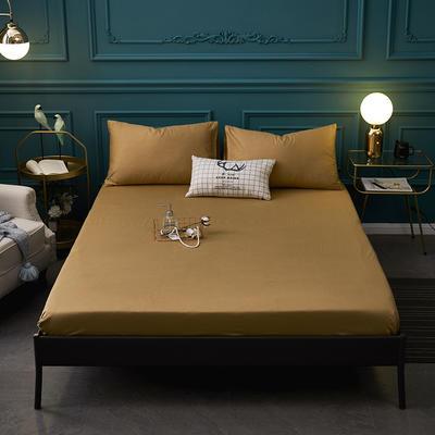 全棉13372纯色单床笠床单 席梦思保护套 0.9*2.0m/高30cm 深驼色