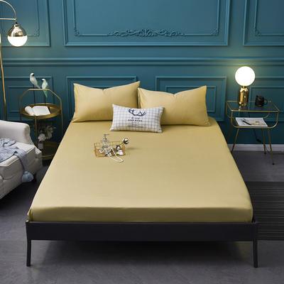 全棉13372纯色单床笠床单 席梦思保护套 0.9*2.0m/高30cm 驼色