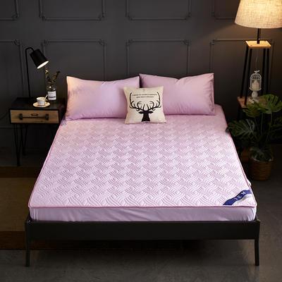 全棉13372夹棉加厚床笠全棉席梦思保护套 0.9*2.0m/高30cm 粉色