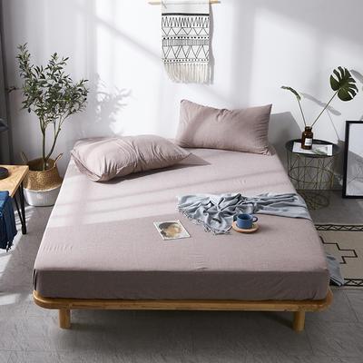 全棉色织水洗棉单床笠床单 席梦思保护套 0.9*2.0m/高30cm 咖啡色