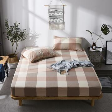 全棉色织水洗棉单床笠床单 席梦思保护套