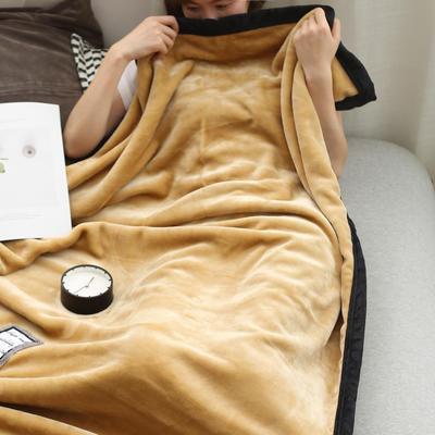 2019新款水晶绒牛奶法兰绒午睡毯 100*150 轻奢驼