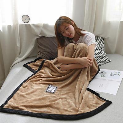 2019新款私人定制立体雕花双层法兰绒午睡毯水晶绒 100*150 轻奢驼