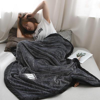 2019新款私人定制立体雕花双层法兰绒午睡毯水晶绒 100*150 天空灰