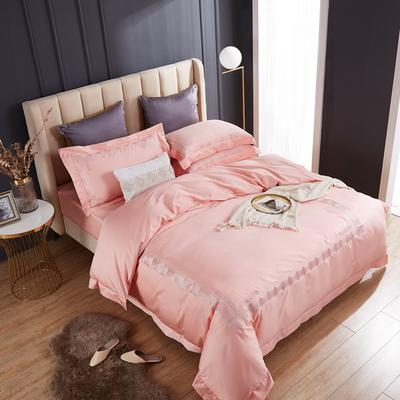 2020新款60支长绒棉刺绣四件套 1.5m床床单款四件套 西西里-典雅玉