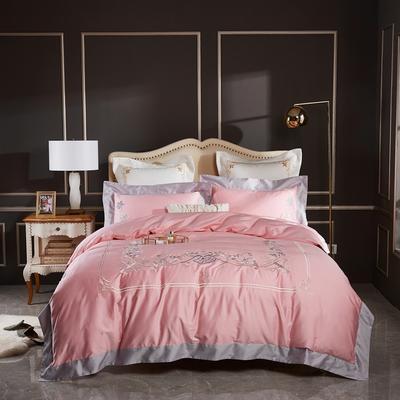 2020新款120支长绒棉刺绣四件套倾城之恋 1.5m床床单款四件套 倾城之恋-琥珀玉