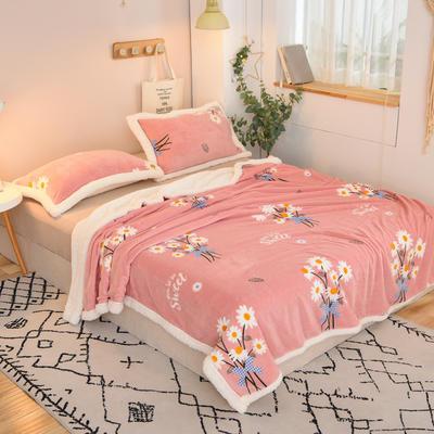 2020新款多功能双层牛奶绒羊羔绒午睡毯毛毯单被套 100*120cm单被套 邂逅雏菊