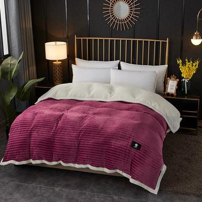 2020新款双层毛毯高克重牛奶绒贝贝绒空调毯午睡毯多功能盖毯单被套 150x200cm单被套 蜜柚时光-豆沙