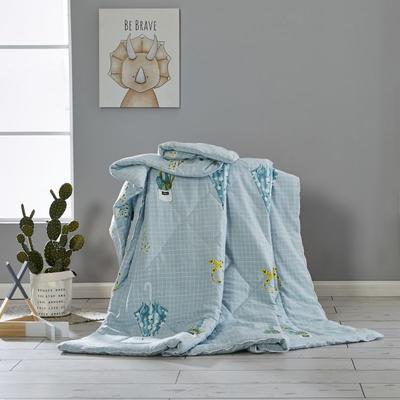 2019新款水洗棉亲肤夏被 200X230cm 雨伞-蓝