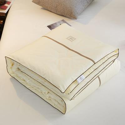 2019新款伊丽莎白春秋被 200X230cm(3.5斤) 伊丽莎白-米黄