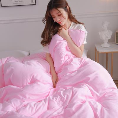 2019新款水洗天丝春秋被冬被-思念如一系列 200*230cm(7斤) 粉色