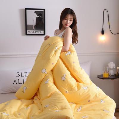 2019新款-全棉印花秋冬被被子被芯 200X230cm7.6斤 小黄鸭