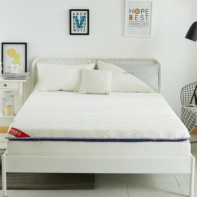 2019新款三明治针织单边床垫6公分 90*200-6cm 蓝色