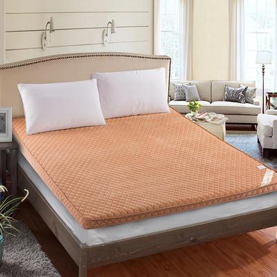 2019新款法兰绒立体床垫 90*200cm 驼色